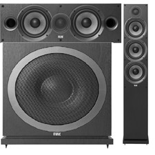 Elac Speakers on sale: Tower $230, center $165, Subwoofer $290